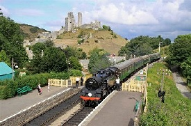 Swanage Steam Railway at Corfe Castle Station